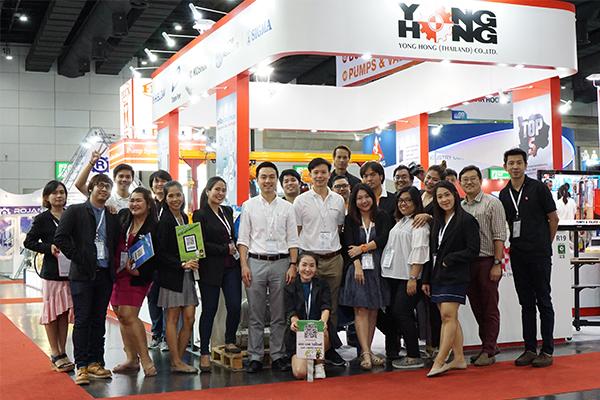 บรรยากาศกิจกรรมภายในบู๊ท YONGHONG ในงาน PUMPS & VALVES ASIA 2018